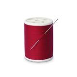 Carrete de la cuerda de rosca con la aguja foto de archivo libre de regalías