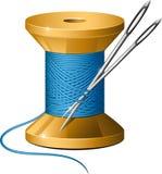 Carrete de la cuerda de rosca y de agujas Imagenes de archivo