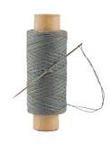 Carrete de la cuerda de rosca y de la aguja Fotos de archivo