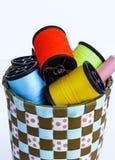 Carrete de la cuerda de rosca y de la aguja Foto de archivo