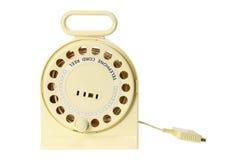 Carrete de la cuerda de teléfono Fotografía de archivo libre de regalías