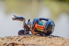 Carrete de la pesca foto de archivo libre de regalías