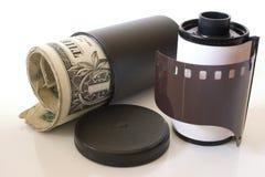 Carrete de película de la liquidación fotografía de archivo libre de regalías