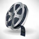 Carrete de película de película de la cañada con la película Imagen de archivo libre de regalías