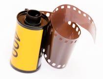 Carrete de película del vintage 35m m Fotografía de archivo