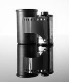 carrete de película negativo de 35m m para la cámara Imágenes de archivo libres de regalías