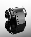 carrete de película negativo de 35m m para la cámara Imagenes de archivo