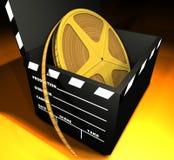 Carrete de película y tablilla Imagen de archivo libre de regalías