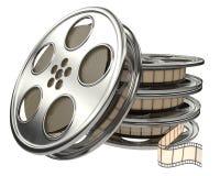 Carrete de películas de película con la película ilustración del vector