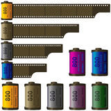 carrete de película de 35m m Fotos de archivo libres de regalías