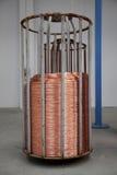 Carrete del alambre de cobre Imagen de archivo libre de regalías