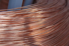 Alambre de cobre Fotos de archivo