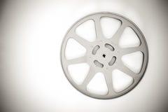 carrete vacío de la película de 16 milímetros blanco y negro Imagen de archivo
