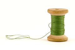 Carrete verde de la cuerda de rosca Fotos de archivo libres de regalías