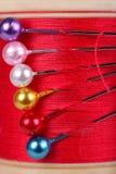 Carrete y contactos del algodón Foto de archivo libre de regalías