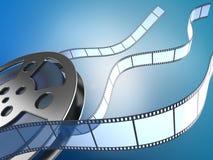 Carrete y tiras de película de la película Imagen de archivo libre de regalías