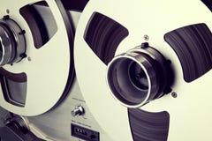 Carretel aberto do registrador da plataforma de fita do carretel do estéreo análogo fotografia de stock