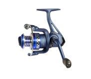 Carretel azul da pesca Foto de Stock Royalty Free