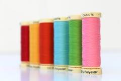 Carretel/carretel da linha do algodão Foto de Stock