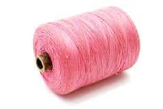 Carretel cor-de-rosa da linha Fotografia de Stock