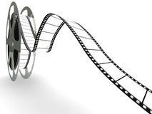Carretel da película de filme em branco Fotografia de Stock