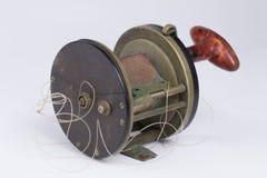 Carretel da pesca de grande jogo do vintage. Imagem de Stock