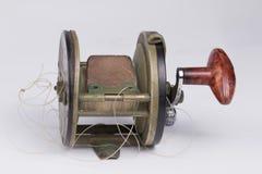 Carretel da pesca de grande jogo do vintage. Fotos de Stock Royalty Free