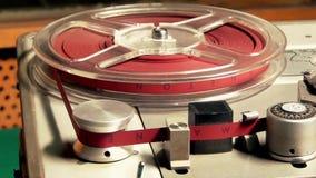 Carretel da rotação, registrador de cassete áudio vídeos de arquivo