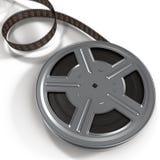 Carretel de filme do filme na ilustração 3D branca Fotografia de Stock Royalty Free