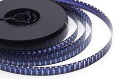 carretel de película de 8mm no branco Fotos de Stock Royalty Free