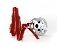 Carretel de película no fundo branco Fotos de Stock