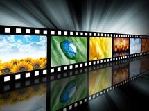 Carretel de película do entretenimento do filme Imagens de Stock Royalty Free