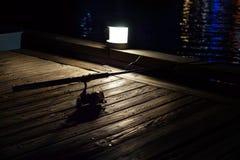 Carretel na noite fotografia de stock