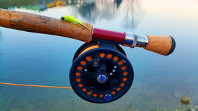 Carretel para a pesca com mosca Foto de Stock Royalty Free