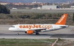 Carreteo de Easyjet Airbus A319 Fotografía de archivo