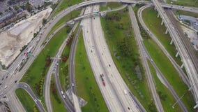 Carretera aérea almacen de metraje de vídeo