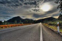 Carretera al cielo Foto de archivo libre de regalías
