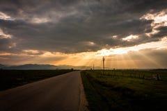 Carretera al cielo Imagen de archivo libre de regalías