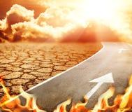 Carretera al infierno Imágenes de archivo libres de regalías