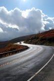 Carretera asoleada Fotos de archivo libres de regalías