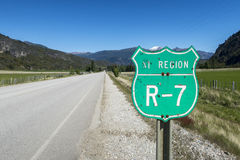 Carretera austral in chile. Detail of the carretera austral in chile Royalty Free Stock Photos