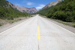 The Carretera Austral, Chile. The Carretera Austral in Chile. It is the Chile`s Route 7, the highway that runs about 1200 km trough the rural Patagonia Stock Image