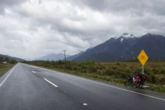 Carretera austral. Detail of the carretera austral in chile Royalty Free Stock Image