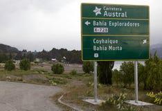 Carretera Austral em Puerto Rio Tranquilo, Patagonia, o Chile Imagens de Stock
