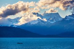 Carretera. Beautiful mountains landscape along gravel road Carretera Austral in southern Patagonia, Chile stock photos