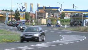Carretera Bourgas-Varna cerca de Pomorie en Bulgaria almacen de metraje de vídeo