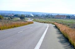 Carretera con curvas imágenes de archivo libres de regalías