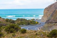 Carretera con curvas Fotos de archivo
