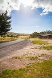 Carretera con curvas al aire fresco Fotografía de archivo