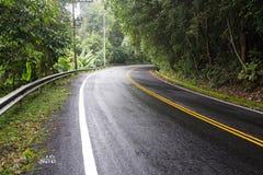 Carretera con curvas con la naturaleza imagenes de archivo